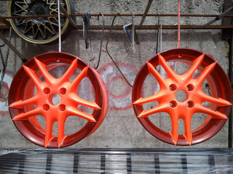 Как покрасить диски в два цвета своими руками 72